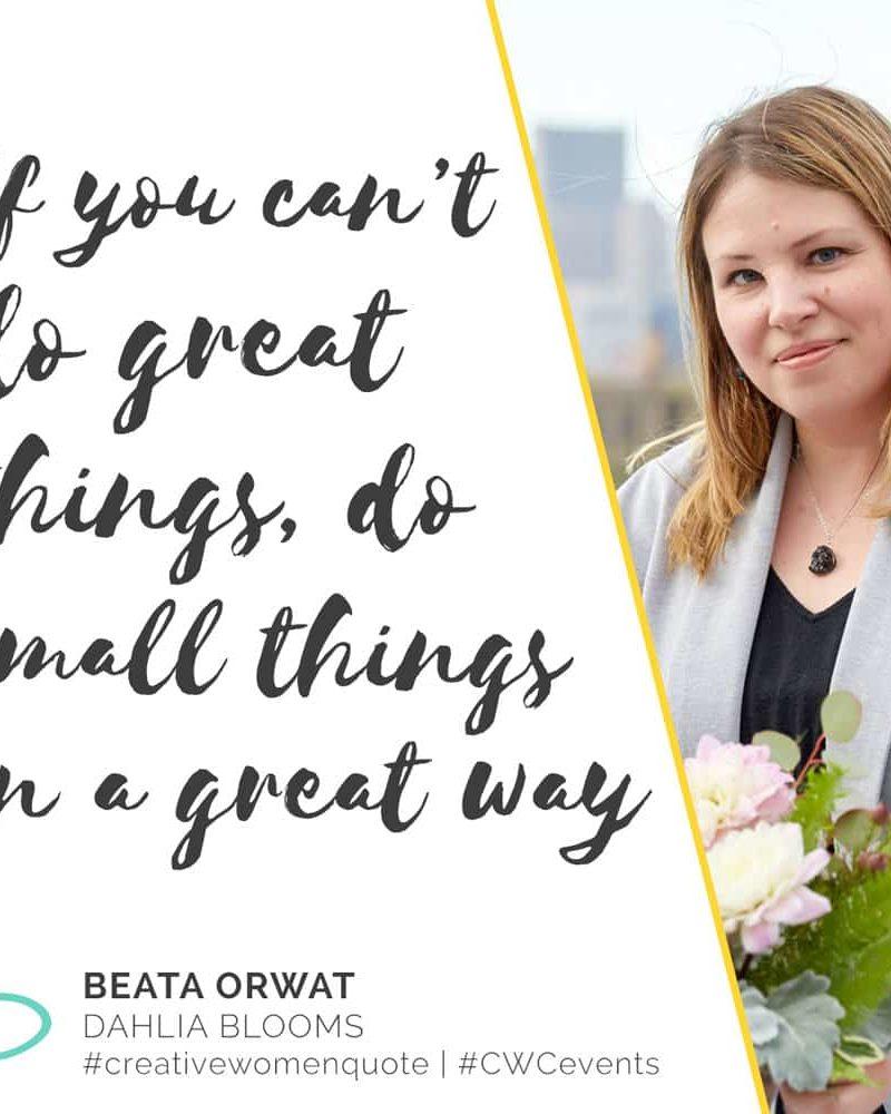 Creative Women Interview With Beata Orwat